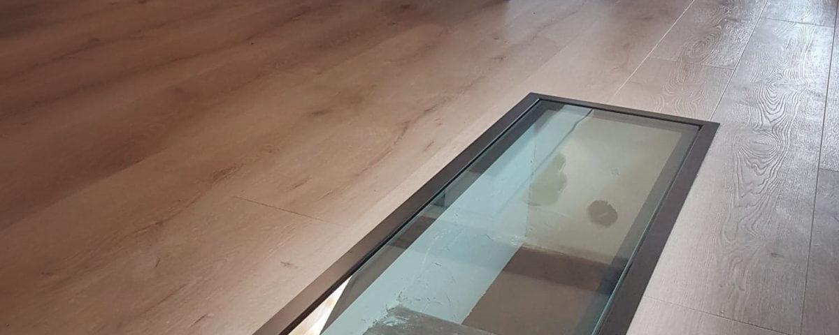 dalle de verre cuisine sur mesure