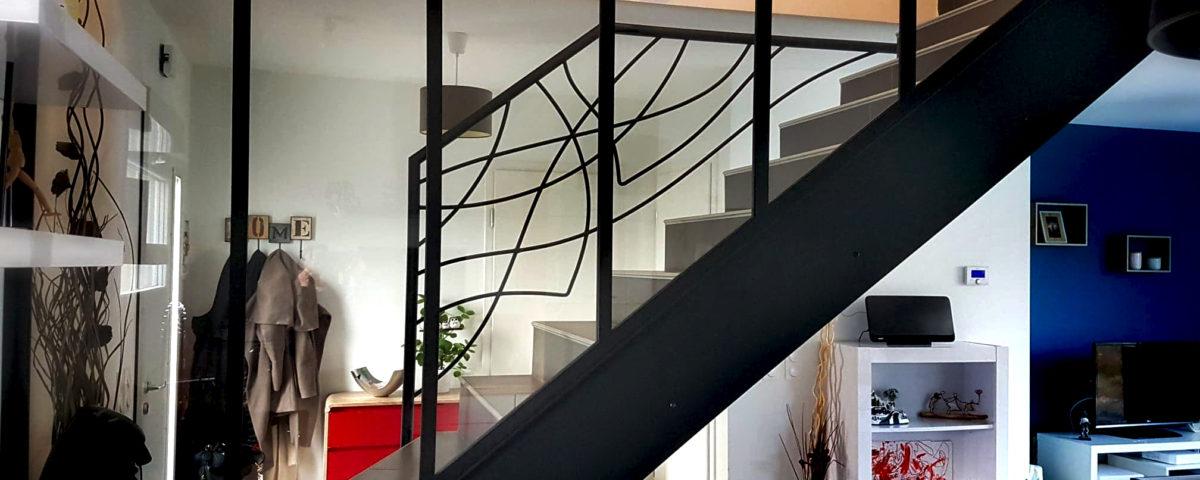 cloison vitree escalier sur mesure