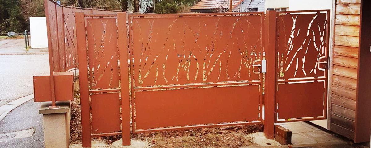grille portail artisanal sur mesure